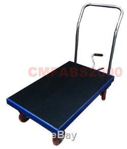 Table De Plate-forme Mobile Hydraulique De Chariot Élévateur De Table De 300 Kilogrammes, Ascenseur De Ciseaux Bleu