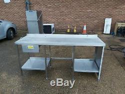 Table De Plateau En Inox Four Support Robuste Commercial 192 X65x90 CM