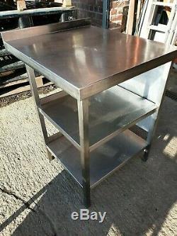 Table De Préparation De Repas En Acier Inoxydable Robuste 650 X 750 MM