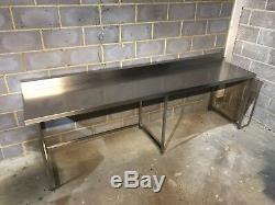 Table De Préparation En Acier Inoxydable Robuste Avec Upstand2925 MM De Large (tva Inc)