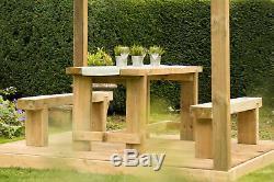 Table De Réfectoire Et Banc De Dormeur Résistants Ensemble Extérieur De Meubles De Jardin 1.8m