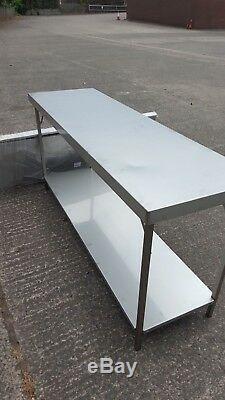 Table De Restauration Pliable Inoxydable Avec Sous-étagère, Neuf 1800 X 450mm