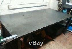 Table De Soudure En Acier 2000x1000mm 6.6x3.3 Pieds Lourds Atelier D'emballage, Garage