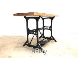 Table De Table De Travail Robuste Industrielle MID Century Singer Vintage