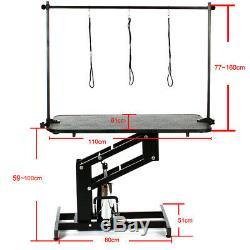 Table De Toilettage De Chien De Grande Capacité Hydraulique Résistant Professionnel Avec Barre En H