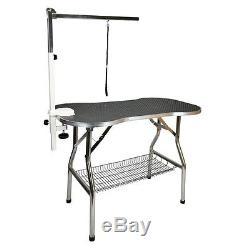 Table De Toilettage Portative Pour Chien De Compagnie D'acier Inoxydable Résistant 32x21 Par Le Cochon Volant