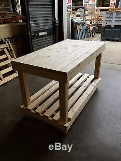 Table De Travail / D'emballage En Bois Robuste