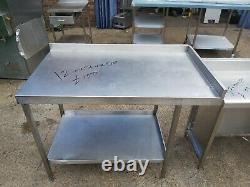 Table De Travail En Acier Inoxydable Pour Cuisine Lourde Commerciale 120x70x90 CM