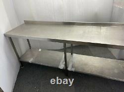 Table De Travail En Acier Inoxydable Pour Cuisine Lourde Commerciale 230x61x85cm