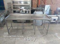 Table De Travail En Acier Inoxydable Pour La Cuisine Espace Lourd Sous 220cm