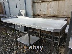 Table De Travail En Acier Inoxydable Robuste Avec Tiroir 2150mm Large