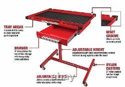 Table De Travail Lourde Réglable Avec Des Outils De Plateau De Magasin À La Maison De Garage De Tiroir Roulant