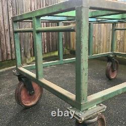 Table De Travail Mobile De L'usine Industrielle Très Lourde Banc De Table 4 Roulettes Flexello