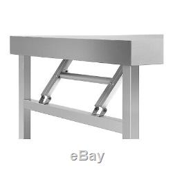 Table De Travail Pliante De Restauration De Table Pliante Résistante D'acier Inoxydable De Table De Travail 4 Ft 120kg