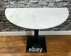 Table De Vanité De Mur En Marbre Blanc De La Lune Demi Ronde