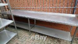 Table En Acier Inoxydable De 296 X 70 CM Pour Restauration Collective