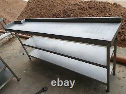 Table En Acier Inoxydable Heavy Duty 2360 MM X 340 Slim Line Shelf Etc