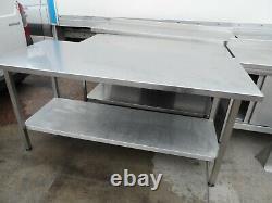 Table En Acier Inoxydable Robuste 1830 X 765 MM 180 £ + Vat