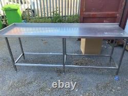 Table En Acier Inoxydable Usagé-heavy Duty