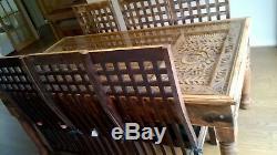 Table Et 6 Chaises En Bois Massif À La Main Unique En Bois Sculpté Heavy Duty
