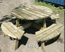 Table Et Banc D'extérieur Robustes Pour Ensemble De Meubles De Patio De Jardin Commerciaux # 3