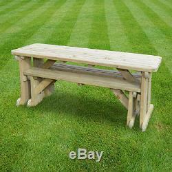 Table Et Banc De Pique-nique Arrondis De Tinwell Réglés Jardin Extérieur En Bois Résistant