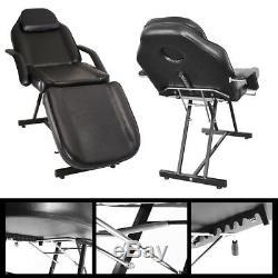 Table Heavy Duty Massage Salon De Beauté Chaise Couch Lit Reiki Avec Stool Black Ivory