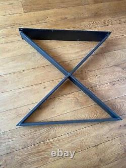 Table Moderne Reclaimed, Table En Chêne Lourd Top 180cm X 90cm Et Pieds En Métal