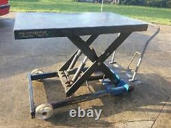 Table Plate-forme De Levage Hydraulique Mobile 1250 Kgs - Cash On Collectio
