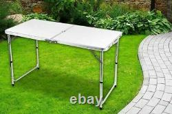 Table Pliante 4 Pieds De Poids Lourd Portable En Plastique Camping Jardin Party Catering Pieds