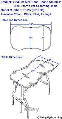 Table Robuste De Toilettage De Chat De Chien D'animal Familier D'acier Inoxydable Avec Le Bras Et Le Plateau 38x22