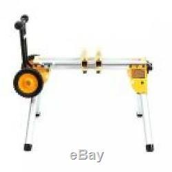 Table Roulante Pour Scie Sur Pied, Pieds Robustes Et Larges En Caoutchouc, Pattes Pliantes Légères