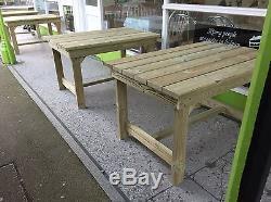 Table, Table De Jardin En Bois, Mobilier En Bois, Tanalisant (pt106 / 130)
