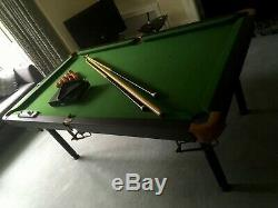 Tableau 6 Ft Snooker X 3 Ft Forte Qualité Heavy Duty Article + Accessoires
