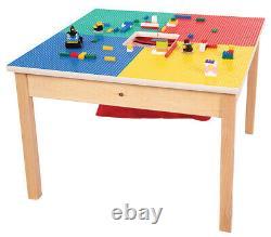 Tableau Lego Compatible Avec Stockage-27x27 Haute Bois-new-made Aux USA