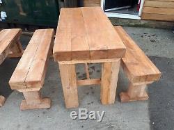 Tables De Pub En Plein Air, 5 Tables 10 Bancs, Style Dormeur