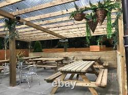 Tables Lourdes De Pique-nique, Banc En Bois De Jardin, Extérieur, Table De Jardin, Poids Lourd