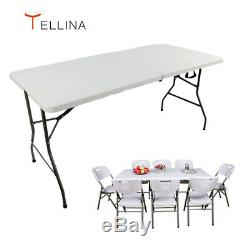Tellina Table Pliante 1,5m 5ft Heavy Duty Portable Tréteau Camping Garden Party