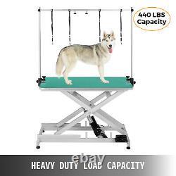 Toilettage De Levage Électrique Pet Dog Table Antidérapants Roues Verrouillables Tous À Bord Métallique