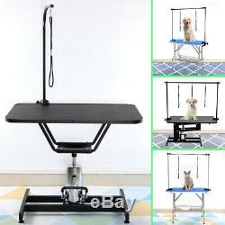Toilettage Heavy Duty Table Hydraulique / Pliable En Noir Avec Bras Et Noose Max. 100kg