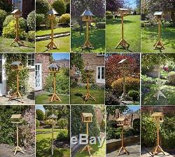 Tom Chambers Bird Tables Garden - Station D'alimentation Pour Toit En Ardoise Et Bois