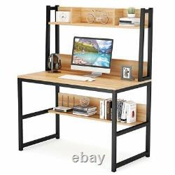 Tribesigns Bureau D'ordinateur Avec Station De Travail Moderne Hutch De Table De Bureau Lourd