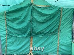 Vintage Camel Mesa Family Cabin Tente 9 X 12 Porche De L'écran Complet De Grandes Fenêtres