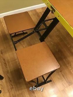 Vintage Handy Table Chair Set Milwaukee Stamping Co. Camp Set Nice Avec Boîte Orig