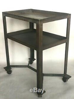 Vintage Industrial Panier Garage Steampunk Tea Bar Table Heavy Duty Steel Antique