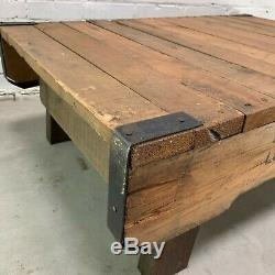 Vintage Industriel Table Basse De Très Solides Palettes