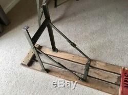 Vintage Rustique Pliant Table Et Banc Tréteau En Bois Set Ex Armée Heavy Duty