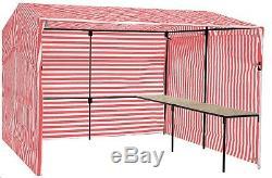 Walk-in Avec Table D'appoint, Pack De Base De Stand De Stand De Marché De 4,3 MX 4,3 M (14 Pi X 14 Pi)