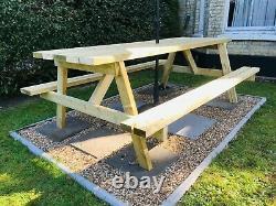 XL Heavy Duty 8 Seater Garden Table De Pique-nique / Banc Pub