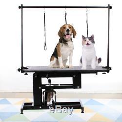 XL Pet Professiona Chien Table De Nettoyage / Toilettage Z-lift Hydraulique Ajuster Laisse Bras